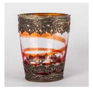 Szklany świecznik Ornament