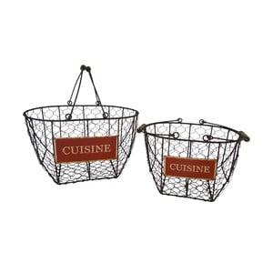 Zestaw 2 koszyków Antic Line Cuisine Basket
