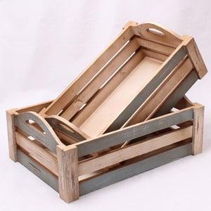 Komplet małych drewnianych skrzynek, 2 szt