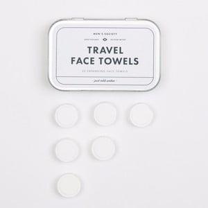 Zestaw 20 podróżnych ręczników do twarzy Men's Society