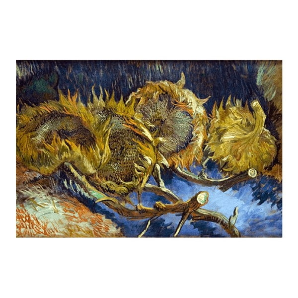 Reprodukcja obrazu Vincenta van Gogha - Four overblown sunflowers, 60x40 cm