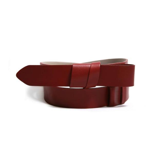 Regulowany skórzany pasek Idon czerwony, 72-108 cm