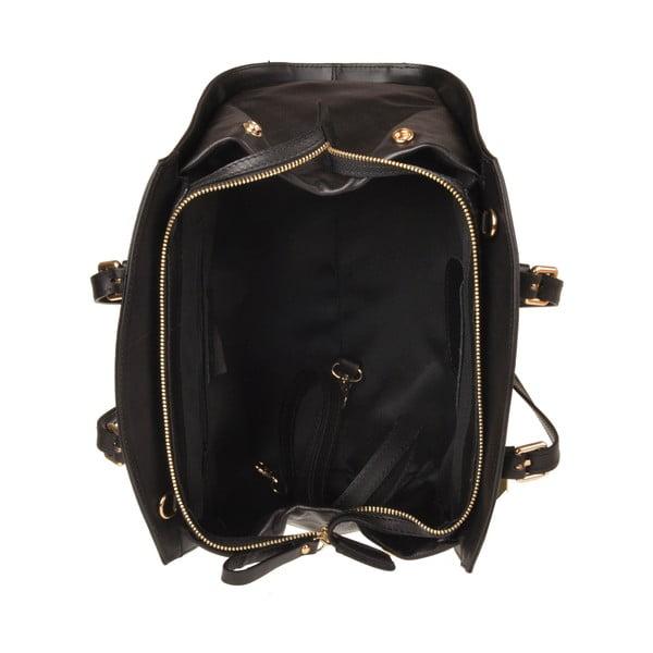 Skórzana torebka Aston, czarna