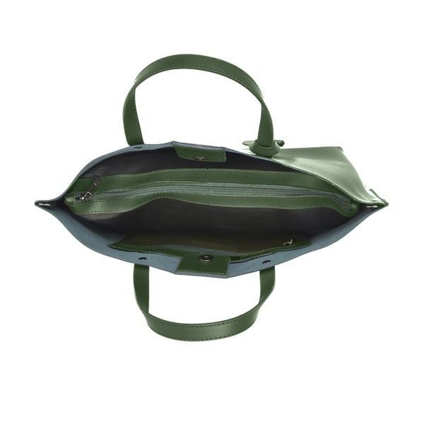 Zielona skórzana torebka Luisa Vannini Veronica