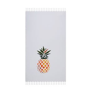 Biały ręcznik plażowy Beach Ananas, 170x90cm