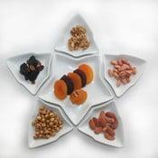 Zestaw 6 białych miseczek na przekąski Kutahya Sartr