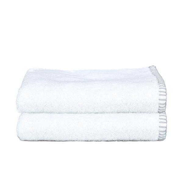 Zestaw 2 ręczników Whyte 100x150 cm, biało-szary