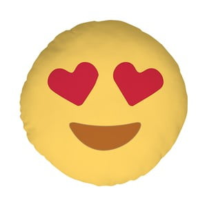 Poduszka Emoji Hearts, 39 cm