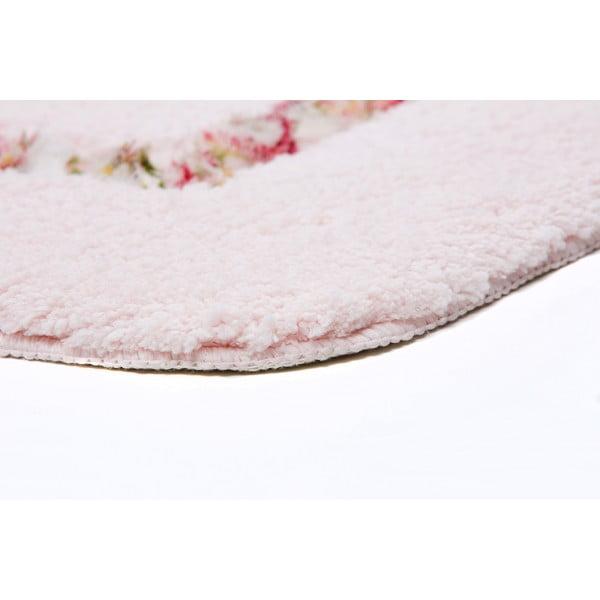 Zestaw 2 dywaników łazienkowych z wcięciem Frenésie Pink