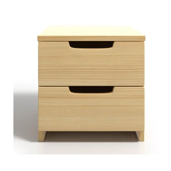 Szafka nocna z drewna sosnowego z 2 szufladami SKANDICA Spectrum