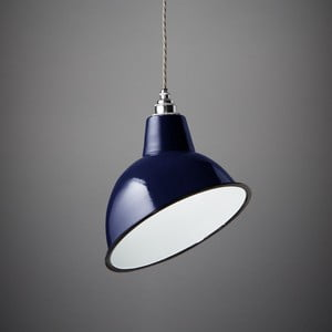 Lampa wisząca Angled Cloche Midnight Blue
