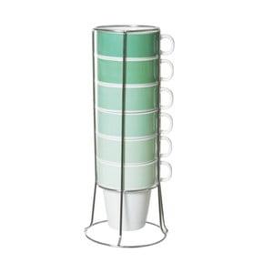 Zestaw 6 kubków na stojaku Present Time Cappiccino Tower