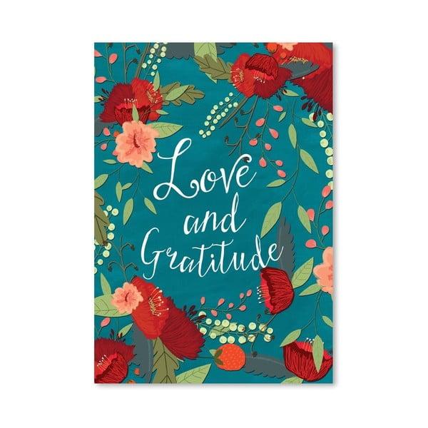Plakat (projekt: Mia Charro) - Love And Gratitude