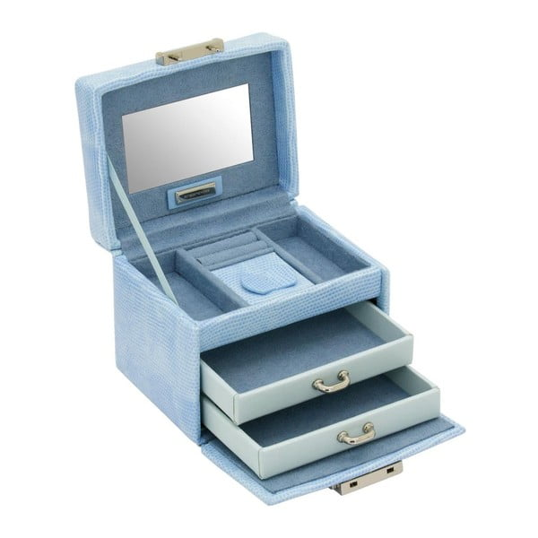 Szkatułka na biżuterię Candy Light Blue, 12x9,5x9 cm