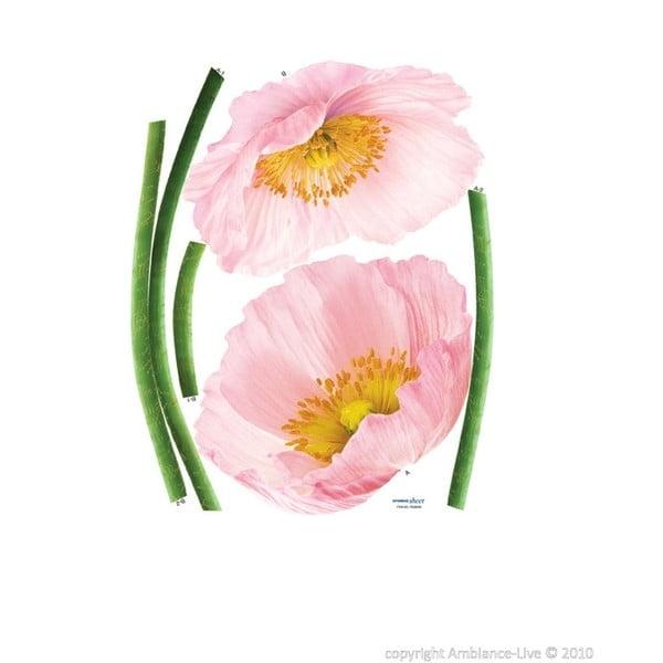 Naklejka Pink Poppy Flowers