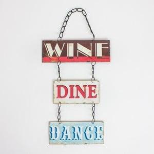 Vintage tablica Wine Dine Dance