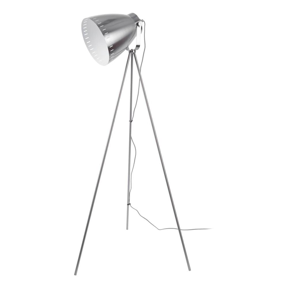 Metalowa lampa stojąca w szarym kolorze Leitmotic Luxury