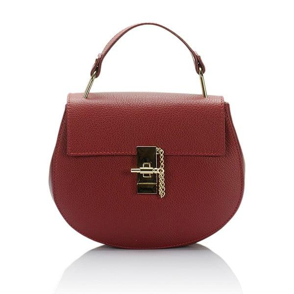 Czerwona skórzana torebka Giorgio Costa Dollaro