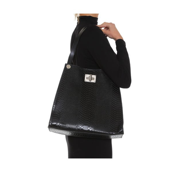 Skórzana torebka Anna Luchini 8038 Nero
