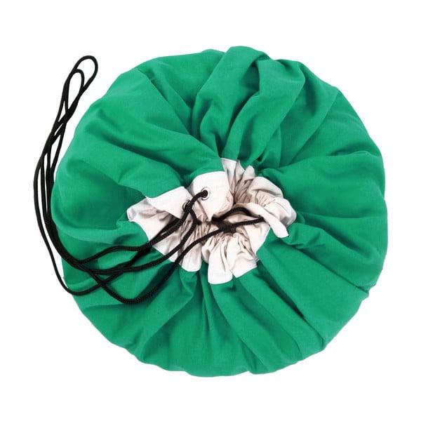 Mata do zabawy i worek na zabawki w jednym Play and Go Classic Green