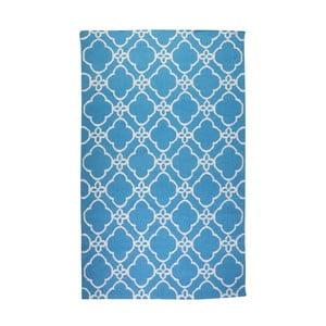 Dywan wełniany Geometry Orient Blue & White, 160x230 cm