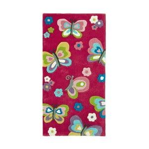 Różowy dywan Tink Rugs Hongkong, 70x140 cm