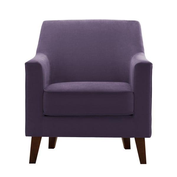 Ciemnofioletowy fotel Jalouse Maison Kylie