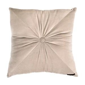Beżowa poduszka Ragged Rose Fiona Velvet