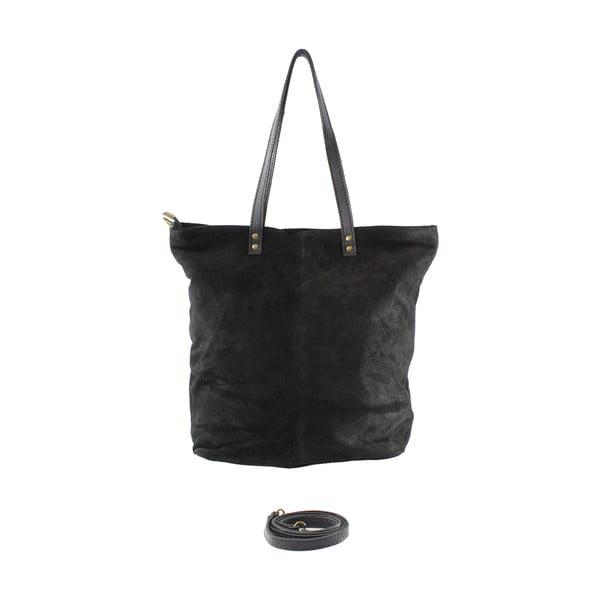 Skórzana torebka Frenze, czarna