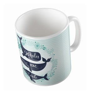 Kubek ceramiczny Whales are Cute, 330 ml