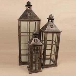 Zestaw 3 lampionów Dakls Vintage Black