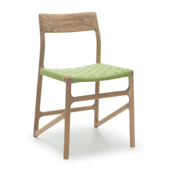 Krzesło Fawn White Pigment Gazzda, zielone