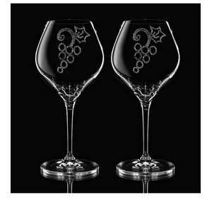 Zestaw 2 kieliszków do wina Grapes ze Swarovski Elements w eleganckim opakowaniu