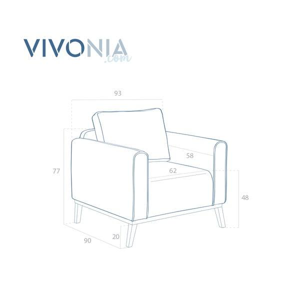 Grafitowy fotel VIVONITA Milton