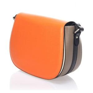 Skórzana torebka Krole Karina, pomarańczowa