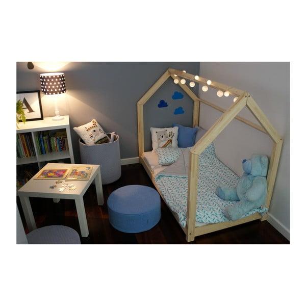 Drewniane łóżko jednoosobowe w kształcie domku Benlemi TERY 80x200 cm