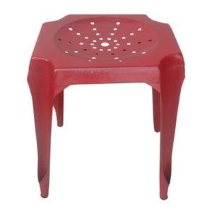 Metalowy stołek Tabouret Rouge
