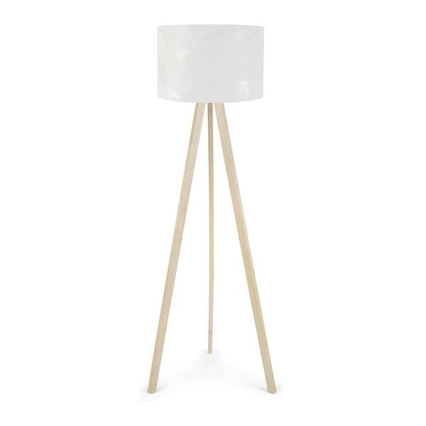 Biała lampa stojąca Nore