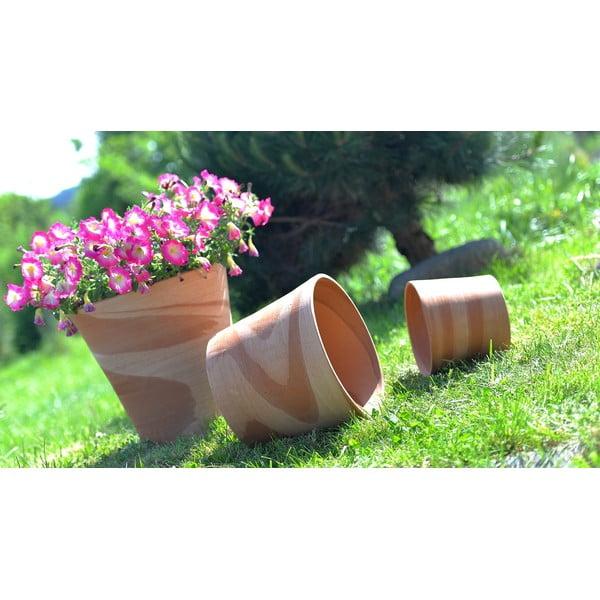 Doniczka ceramiczna Cilindrico 40 cm, kremowa