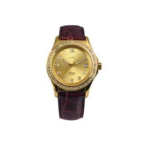 Zegarek damski Alfex 56778 Yelllow Gold/Brown