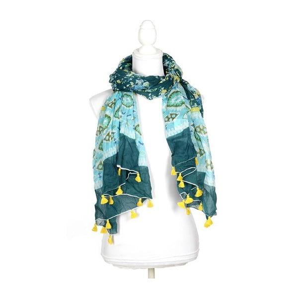 Chusta/pareo BLE Inart 100x180 cm, niebiesko-zielona