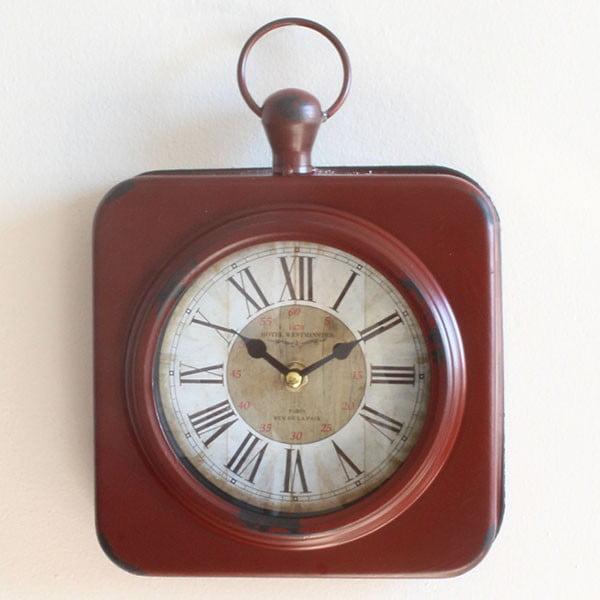 Metalowy zegar Moulin Rouge, 19x28 cm