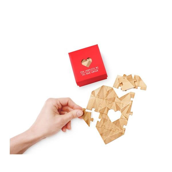 Puzzle z wiadomością Luckies of London Romantic Red