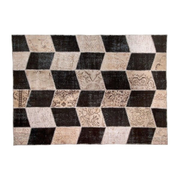 Dywan wełniany Allmode Black, 150x80 cm