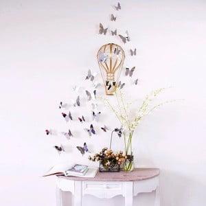 Zestaw 12 naklejek 3D Ambiance Mirror Butterflies
