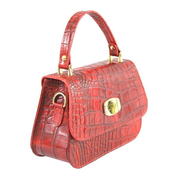 Czerwona skórzana torebka Caroline