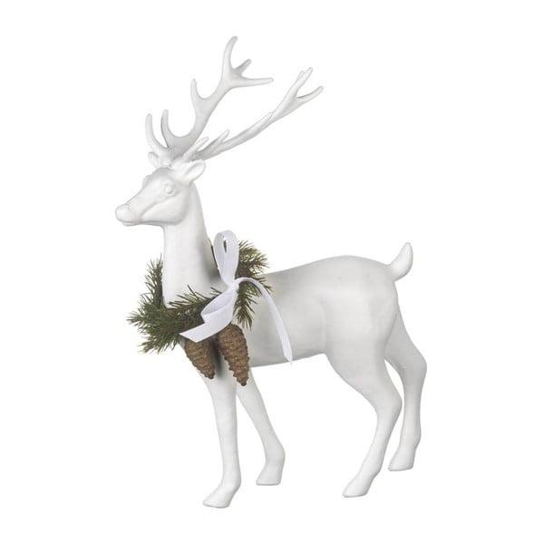 Dekoracja Reindeer White, 31x24x9 cm