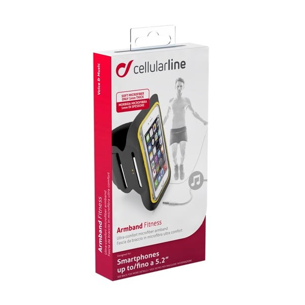 Sportowa opaska na ramię CellularLine, czarna