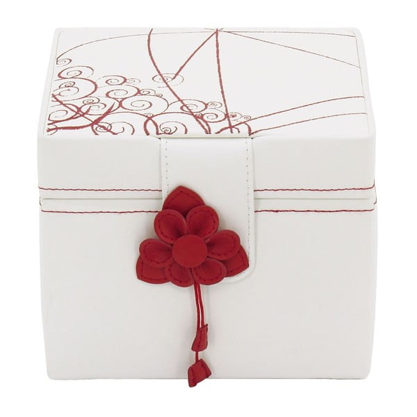 Szkatułka na biżuterię Amiral Red, 15x14x13 cm