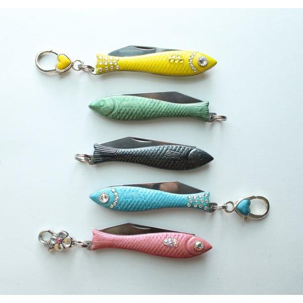 Scyzoryk rybka, ecru, malowana